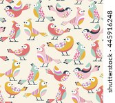 seamless pattern with little... | Shutterstock .eps vector #445916248