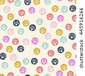 seamless pattern with abstract... | Shutterstock .eps vector #445916266