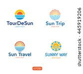 sun and sea logo design... | Shutterstock .eps vector #445919206