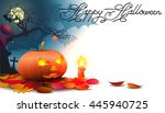 halloween design background.all ... | Shutterstock .eps vector #445940725