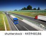 truck transportation on the road | Shutterstock . vector #445948186
