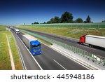 truck on the road   Shutterstock . vector #445948186