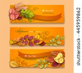 autumn background. vector eps 10 | Shutterstock .eps vector #445959862