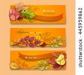 autumn background. vector eps 10 | Shutterstock .eps vector #445959862
