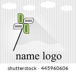 vector logo for web design... | Shutterstock .eps vector #445960606