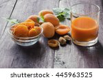 Ripe Orange Apricots  Dried...