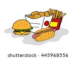 hand drawn color  isolated fast ... | Shutterstock .eps vector #445968556