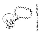 freehand drawn speech bubble... | Shutterstock .eps vector #445982302