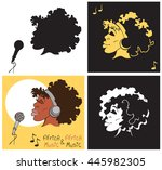 illustration of an african... | Shutterstock .eps vector #445982305