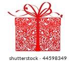 stylized gift   vector | Shutterstock .eps vector #44598349