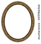 oval frame isolated on white... | Shutterstock . vector #445986466