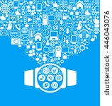 smart watch and social media... | Shutterstock .eps vector #446043076