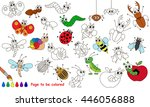 set of funny insects to be... | Shutterstock .eps vector #446056888