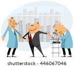 vector illustration of a boss... | Shutterstock .eps vector #446067046