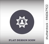 gears vector icon. flat design...