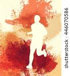people running. vintage sport... | Shutterstock . vector #446070586