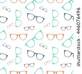vector colorful glasses... | Shutterstock .eps vector #446076496