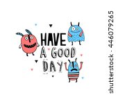 have a good day card with... | Shutterstock .eps vector #446079265
