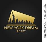 new york dream vector design | Shutterstock .eps vector #446081386