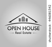 open house real estate logo | Shutterstock .eps vector #446081542