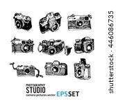 camera photography vector set... | Shutterstock .eps vector #446086735