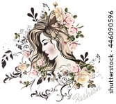 fashion vector illustration... | Shutterstock .eps vector #446090596
