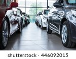 Modern beautiful showroom with cars being sold - stock photo