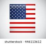vector image of american flag ... | Shutterstock .eps vector #446113612