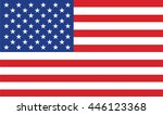 united states of america flag... | Shutterstock .eps vector #446123368