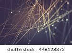 abstract polygonal space low... | Shutterstock . vector #446128372