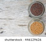 yellow and brown indian mustard ... | Shutterstock . vector #446129626