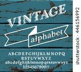 Retro Vintage Alphabet Font....