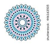 mandale icon. bohemic design.... | Shutterstock .eps vector #446163505