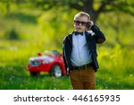 boy with phone | Shutterstock . vector #446165935