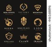 logo collection. set of brand... | Shutterstock .eps vector #446168896