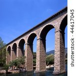 Aquaduct in the Vaucluse,France - stock photo