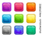 colorful square glossy buttons...