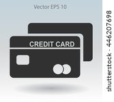 credit card for banking... | Shutterstock .eps vector #446207698
