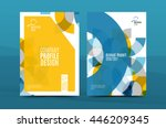 colorful fresh business a4... | Shutterstock .eps vector #446209345