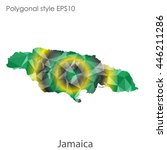 jamaica map in geometric... | Shutterstock .eps vector #446211286