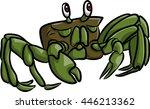 a green crab | Shutterstock .eps vector #446213362