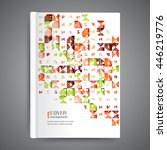color book design template.... | Shutterstock .eps vector #446219776