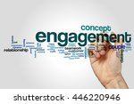 engagement word cloud | Shutterstock . vector #446220946
