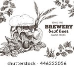 vector illustration of beer.... | Shutterstock .eps vector #446222056