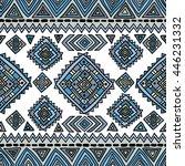 ethnic seamless geometric... | Shutterstock .eps vector #446231332