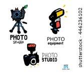 set of photo studio equipment... | Shutterstock .eps vector #446236102