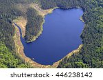 Aerial View Of A Small Lake In...
