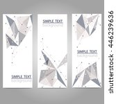 vector vertical banners set... | Shutterstock .eps vector #446239636