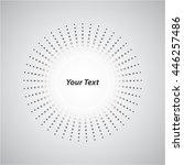 background white circle round... | Shutterstock .eps vector #446257486