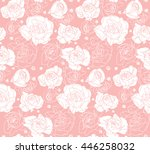 seamless floral pattern.... | Shutterstock .eps vector #446258032